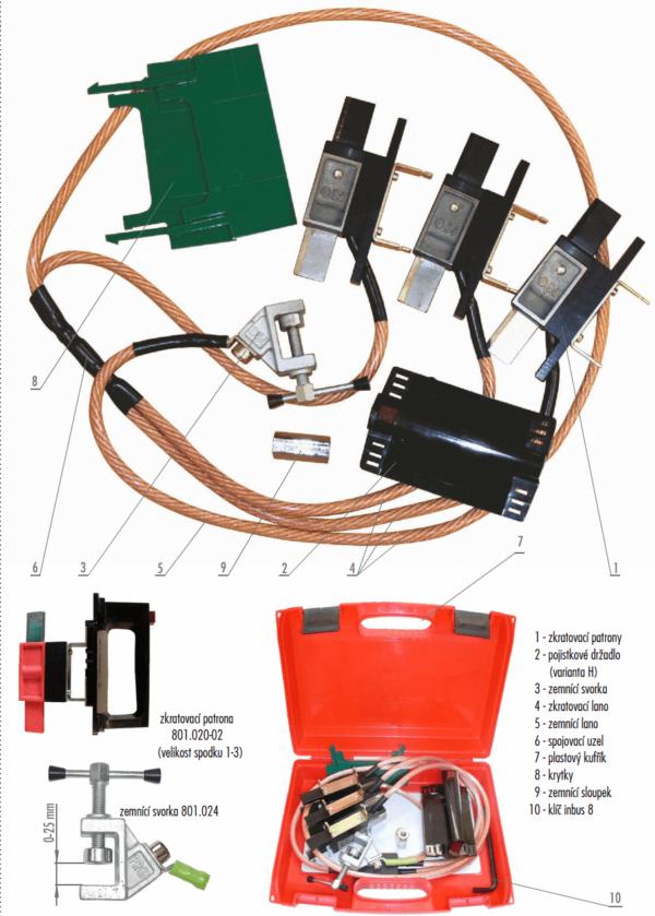 Skratovacej súprava NN 1 kV - pre poistkové vývody   Typ 801.001-H