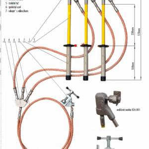 Skratovacej súprava NN 1 kV - na guľový bod | Typ 802.001
