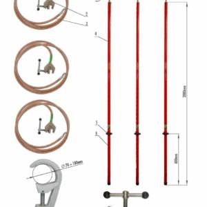 Skratovacej súprava VVN 123 kV - pre priemer vodiča 70 - 100 mm | Typ 811.123-10