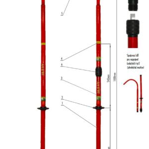 Záchranný hák VN 38,5 kV   Typ 862.040
