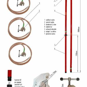 Skratovacej súprava VVN 245 kV - pre priemer vodiča 0 - 55 mm | Typ 813.245-10