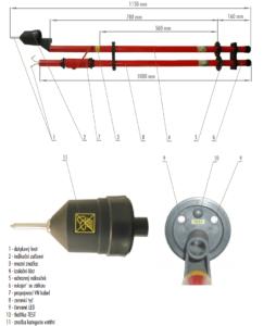 Skúšačka SS s kombinovanou signalizáciou 1 kV   Typ 851.001