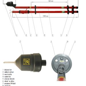 Skúšačka SS s kombinovanou signalizáciou 1 kV | Typ 851.001