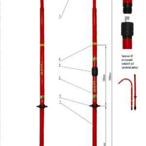 Záchranný hák VN 38,5 kV   Typ 863.040